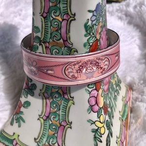 Vintage Michaela Frey Bangle in Pink and Blue